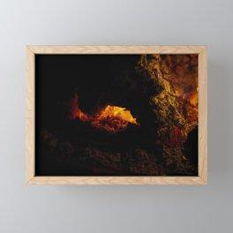 Fire Pit Framed Mini Art Print