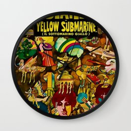 1968 Yellow Submarine Italy Movie Promotional Poster Wall Clock
