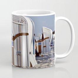 White Beach Chairs on the Isle of Ruegen Coffee Mug