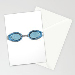 """A Great Swimming Tee For Swimmers Saying """"Oxygen Is Overrated"""" T-shirt Design Goggles Stationery Cards"""