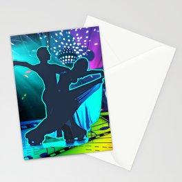 Dancing Couple Ballroom Waltz Stage Lights Music Symbols Stationery Cards