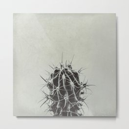 Retro Cactus Metal Print