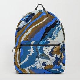 Blue Gold Geode Backpack