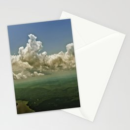 Mid hudson Valley new york state view from the air clouds landscape  Stationery Cards