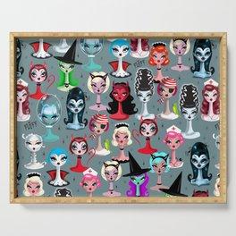 Spooky Dolls Serving Tray