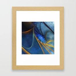 yellow and blue spirals Gerahmter Kunstdruck