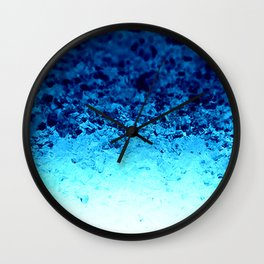 Blue Crystal Ombre Wall Clock