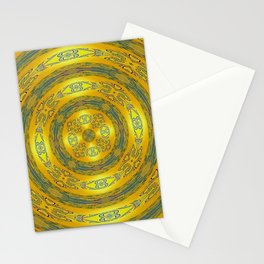 Yellow/Blue Manadala Stationery Cards