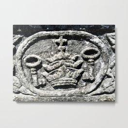 Ancient Church Carvings Metal Print