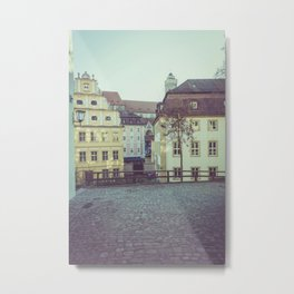 Colorful low rise residences in a town Metal Print