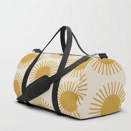 Golden Sun Pattern Duffle Bag