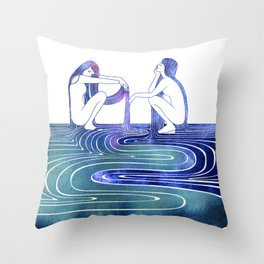 Doris and Eione Throw Pillow
