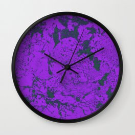 Purple Techno Rock Rave Aesthetic Computer Texture Wall Clock
