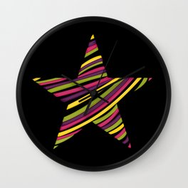 String star Wall Clock