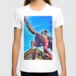 Blue Balls - Statue of General Jeb Stuart - Richmond VA T-shirt