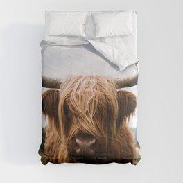 Scottish Highland Cattle in Scotland Portrait II Comforters