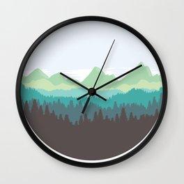 Mountain Air Wall Clock