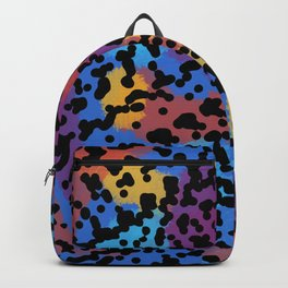 90s Leopard Colorful Sticker print Retro Throwback Backpack