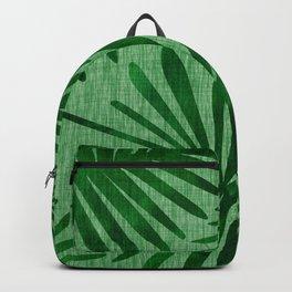 Emerald Retro Nature Print Backpack