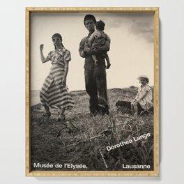 Plakat dorothea lange musee de lelysee Serving Tray