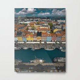 Colorful houses of Copenhagen Metal Print