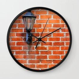 Brick Wall Light Wall Clock
