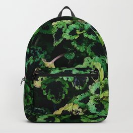Green Leaf Flowers Backpack