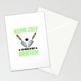 Gärtner Keine Zeit Ich Muss In den Garten T Shirt Landschaftsgärtner TShirt Natur Shirt Spruch Stationery Cards