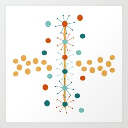 Mid-Century Modern Art   Atomic StarDots 1.0 TP Art Print