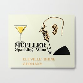 Mueller sparkling wine Metal Print