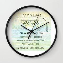 """""""2020 Goals"""" Wall Clock"""