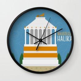 World Wonder: Mausoleum at Halikarnassos Wall Clock