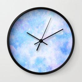 Pastel Cloulds Sky Seamless Nebula 19 Wall Clock