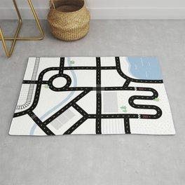 Children's play rug // City – minimal Rug