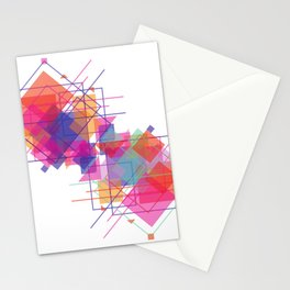 A triangle, square or both Stationery Cards
