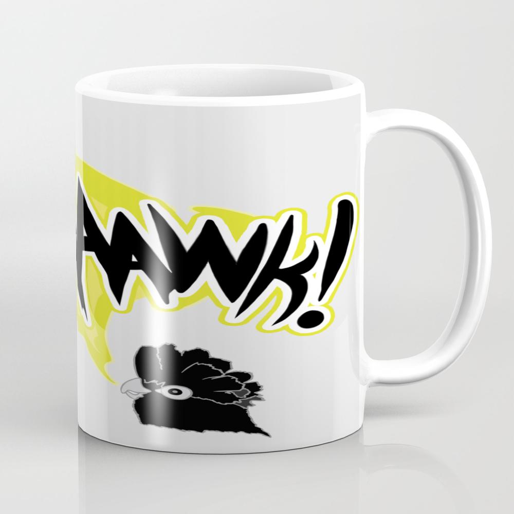 Comic Style- Cute Parrot Squaaawk Tea Cup by Sebastiancubides MUG7646302