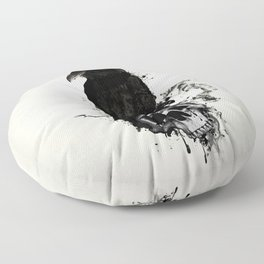Raven and Skull Floor Pillow