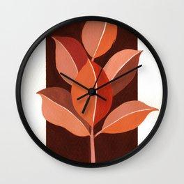 Abstract Leaves III Wall Clock
