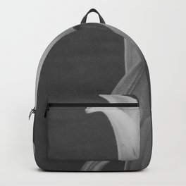 Tulip Blossoms floral black and white photography / photograph Backpack