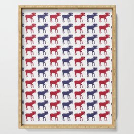 Graphic US Silhouette Moose 08 Serving Tray