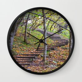 Stairway into the Woods Wall Clock
