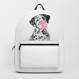 Dalmatian Blowing Bubble Gum Backpack