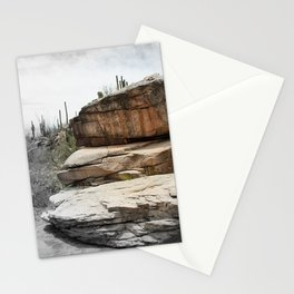 Petroglyphs on Stone in the Desert Stationery Cards