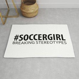 Soccer Girl - Breaking Stereotypes Rug