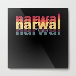 narwhal, narwhal tusk, narwhal cute animal Metal Print