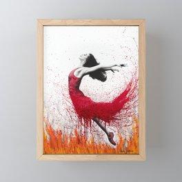 Dance Above The Flames Framed Mini Art Print