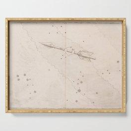 Johann Bayer - Uranometria / Measuring the Heavens (1661) - 15 Sagitta / Arrow Serving Tray