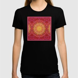 Love Will Find A Way -- Kaleidescope Mandala in the colors of Love T-shirt