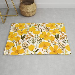 Yellow roaming wildflowers Rug