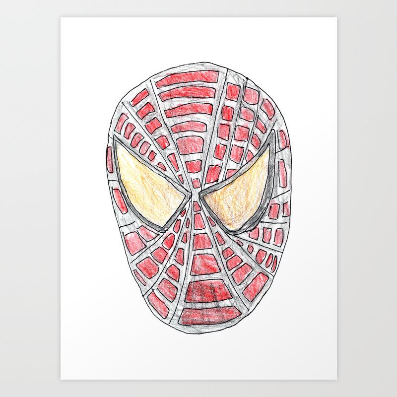 Spider Man Art Print by Littlekingdom PRN8111642
